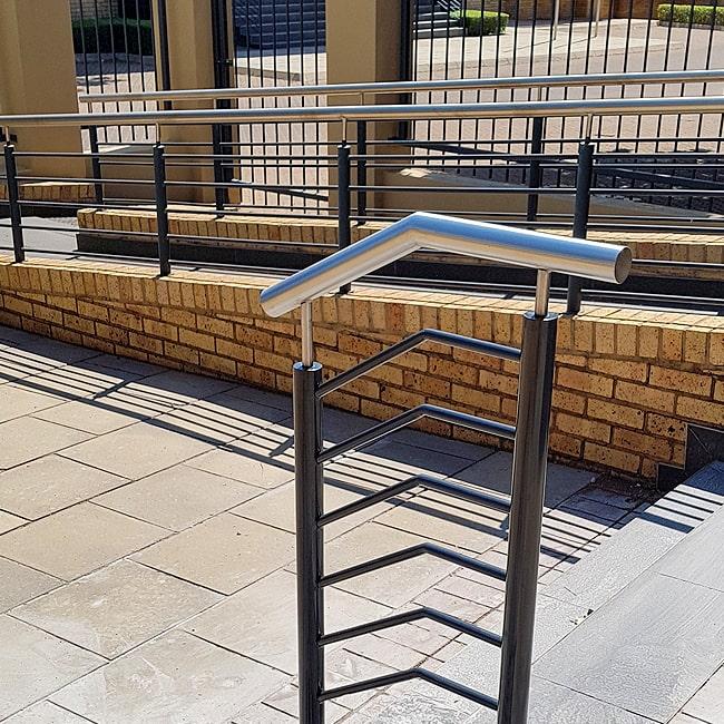 Staircase grab rails