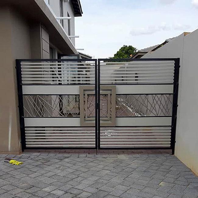 driveway gates custom built Pretoria Johannesburg