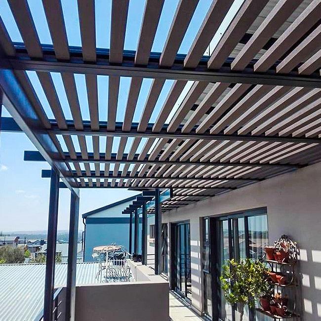 Custom made balcony pergola Pretoria
