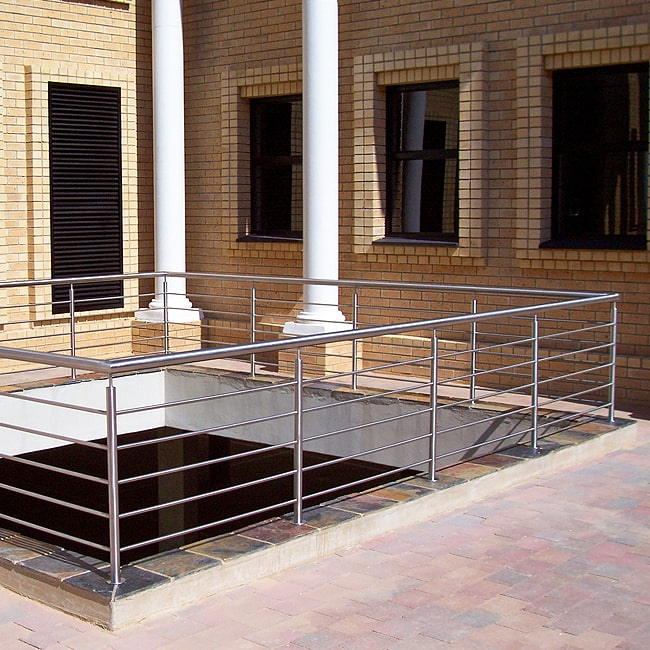 Stainless steel safety rails