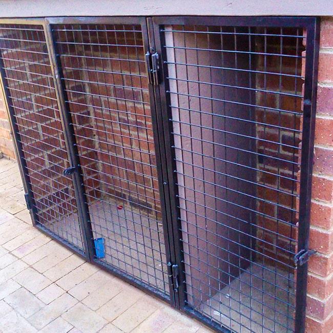 Steel mesh security doors