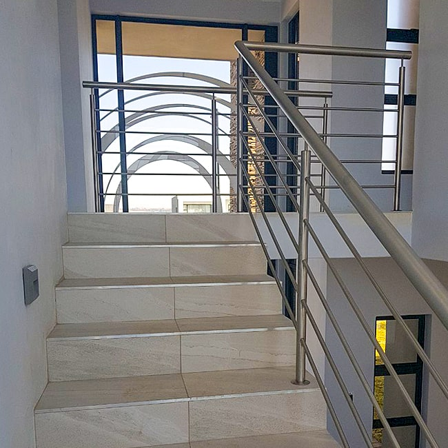 Stair bannister steel