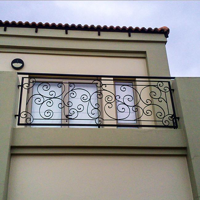 Wrought iron balcony rail