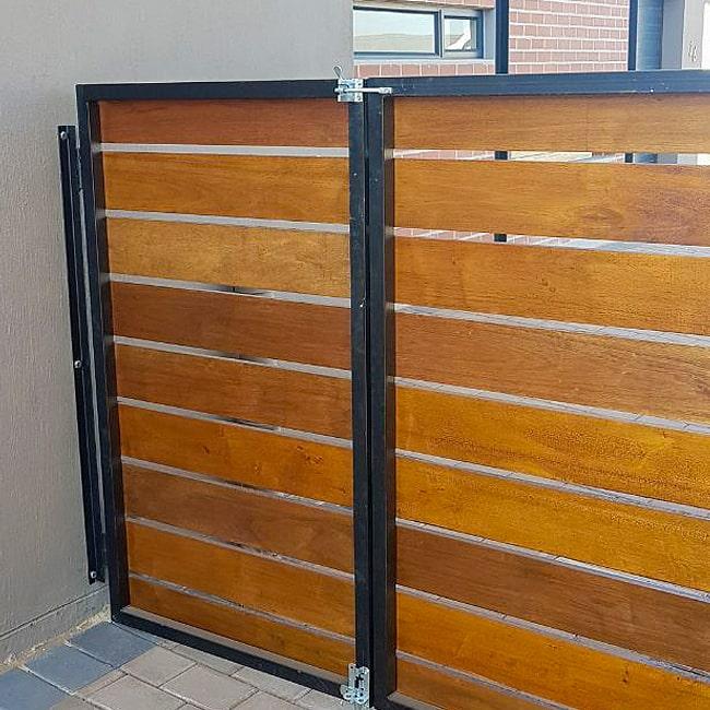 Steel and wood gates centurion