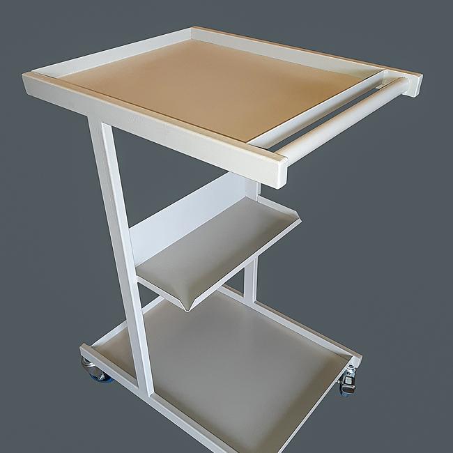 Custom built steel table trolley