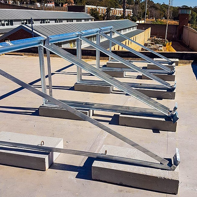 Solar panel steel supports custom made .co.za