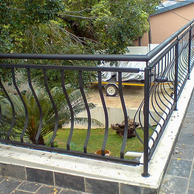 Metal balcony rail