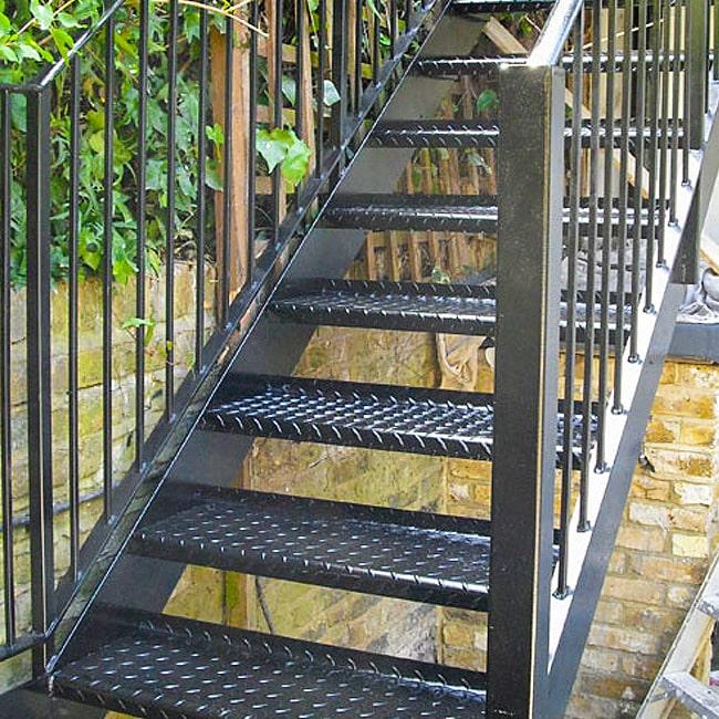 Steel steps