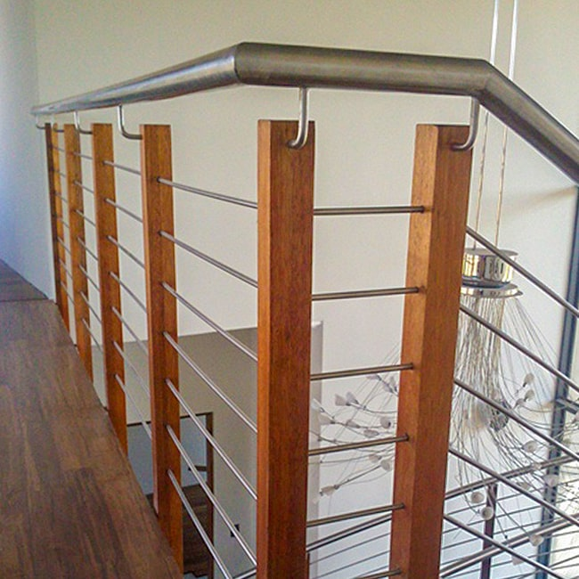 Wooden bannister uprights