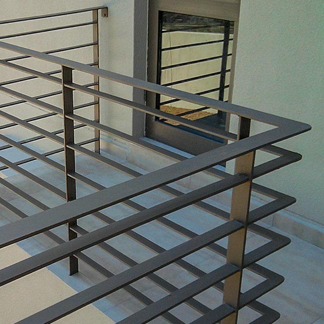 Flat bar steel balustrade designs