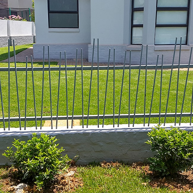Custom designed steel fencing