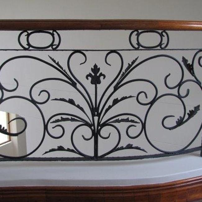 Wrought iron handmade balustrade