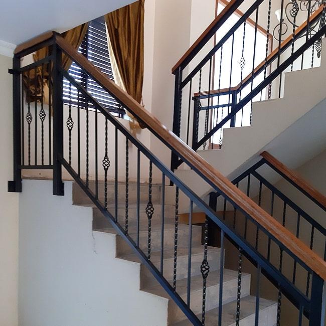 wood and steel balustrade installations