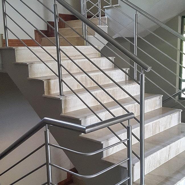 Stainless steel balustrade rails