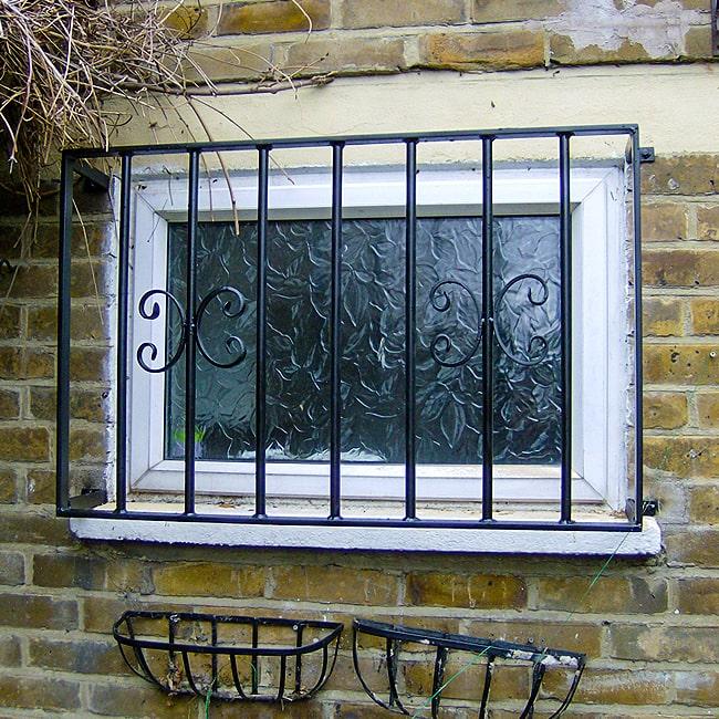 Wrought iron burglar bars