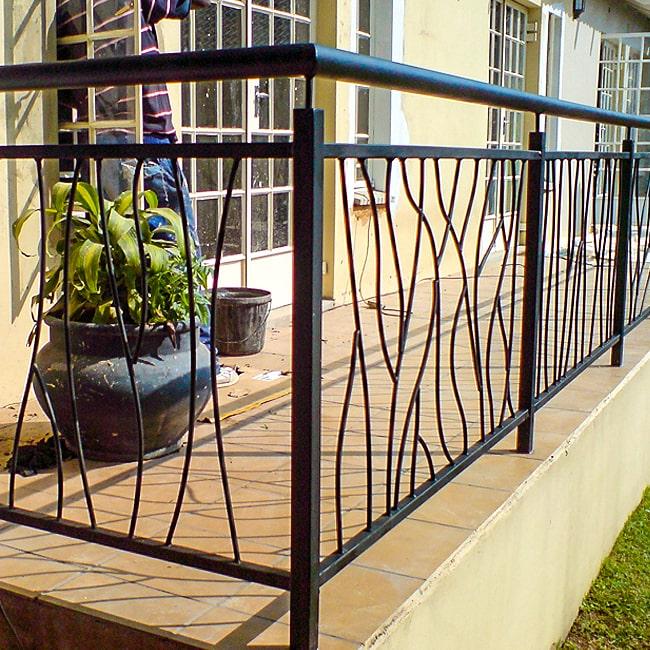 Steel balustrade designs