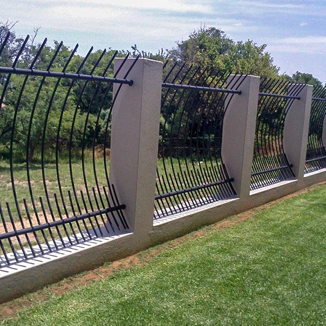 no climb steel fencing