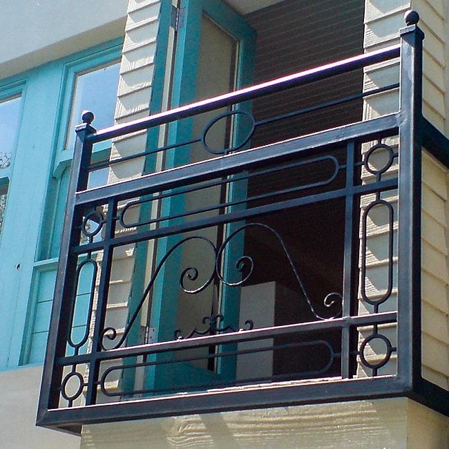 Custom built metal balcony balustrade