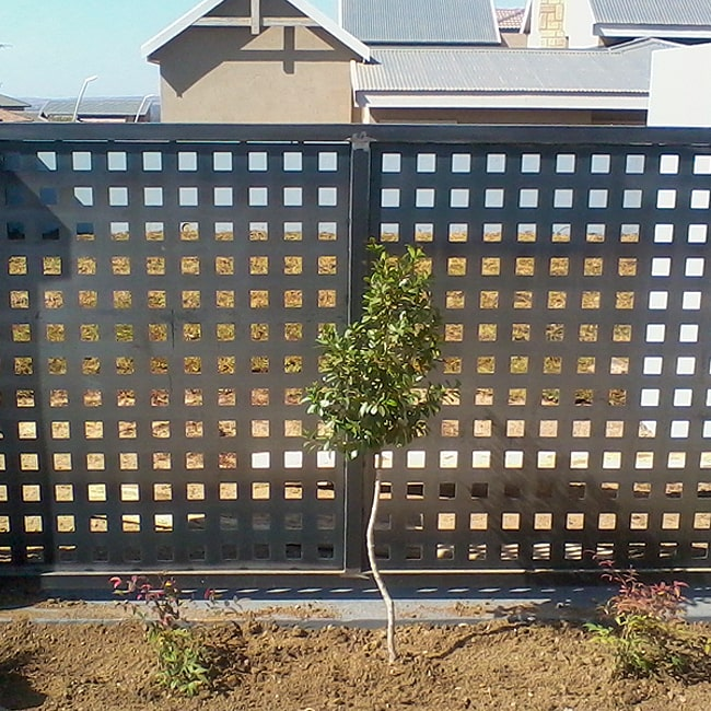 Square perforated steel gates
