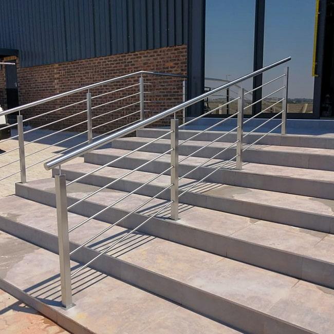 Square steel stanchion balustrades