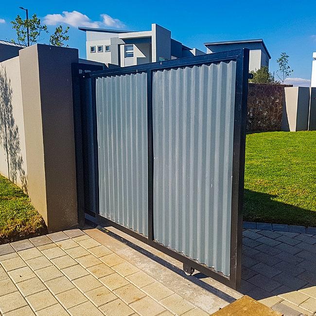 Corrugated iron gate Gauteng