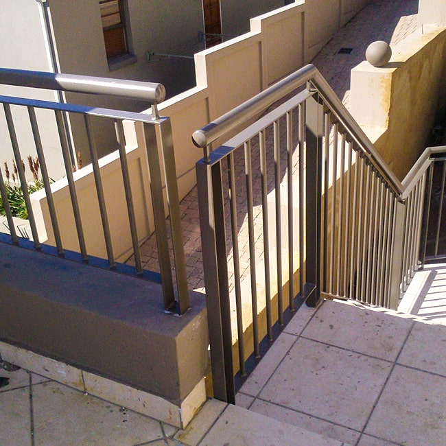 Steel balustrades installed