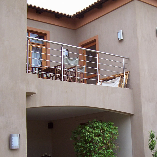 Stainless steel balcony bannisters