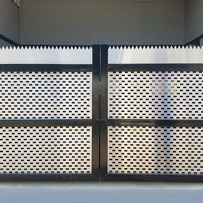 Perforated Stainless Steel gate