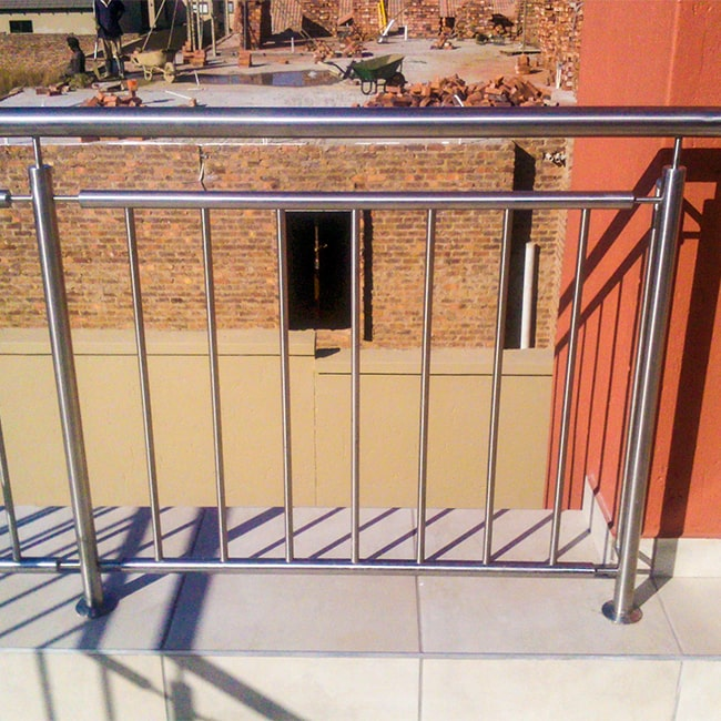 No climb vertical steel balustrade