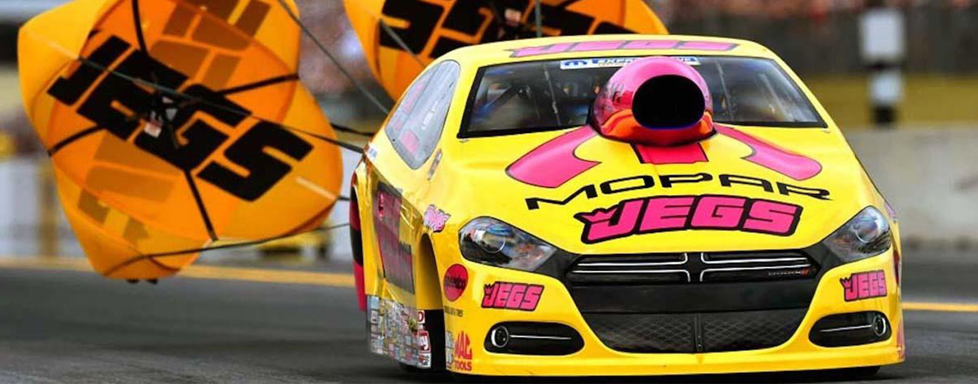 JEGS Motor sports drag car. Associated Graphics Inc. testimonial by JEGS