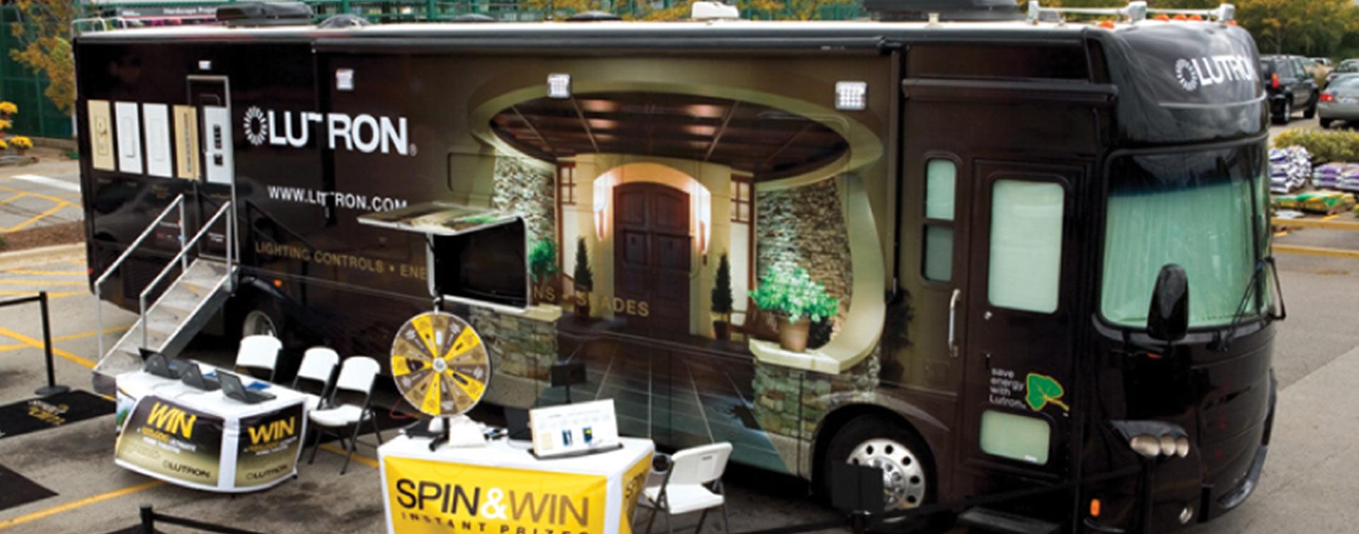 D&S Creative Communications Lutron Tour Bus.