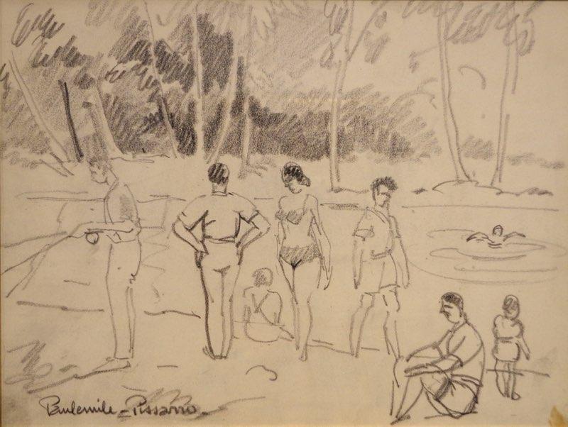 Paul-Émile Pissarro, People Swimming