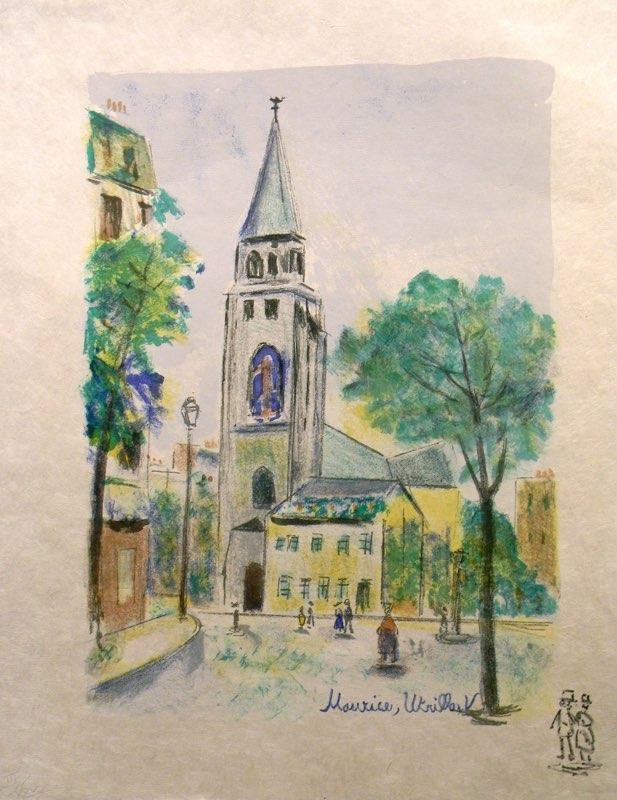 Utrillo, Church in Paris