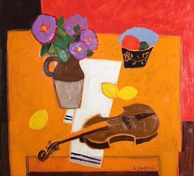 Coulomb, Table jaune au violon