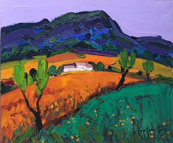 Coulomb, Paysage Provencal