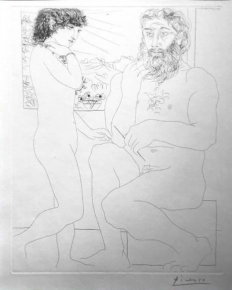 Picasso, Sculpteur et Modele Debout