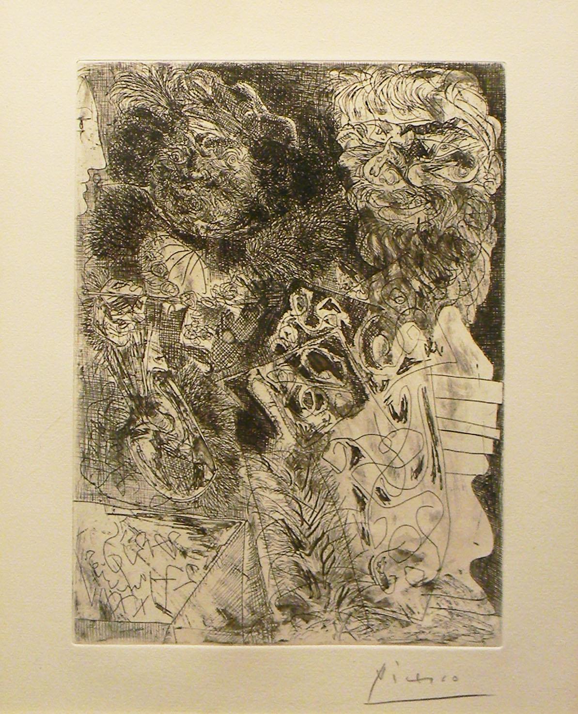 Picasso, Rembrandt a la Palette
