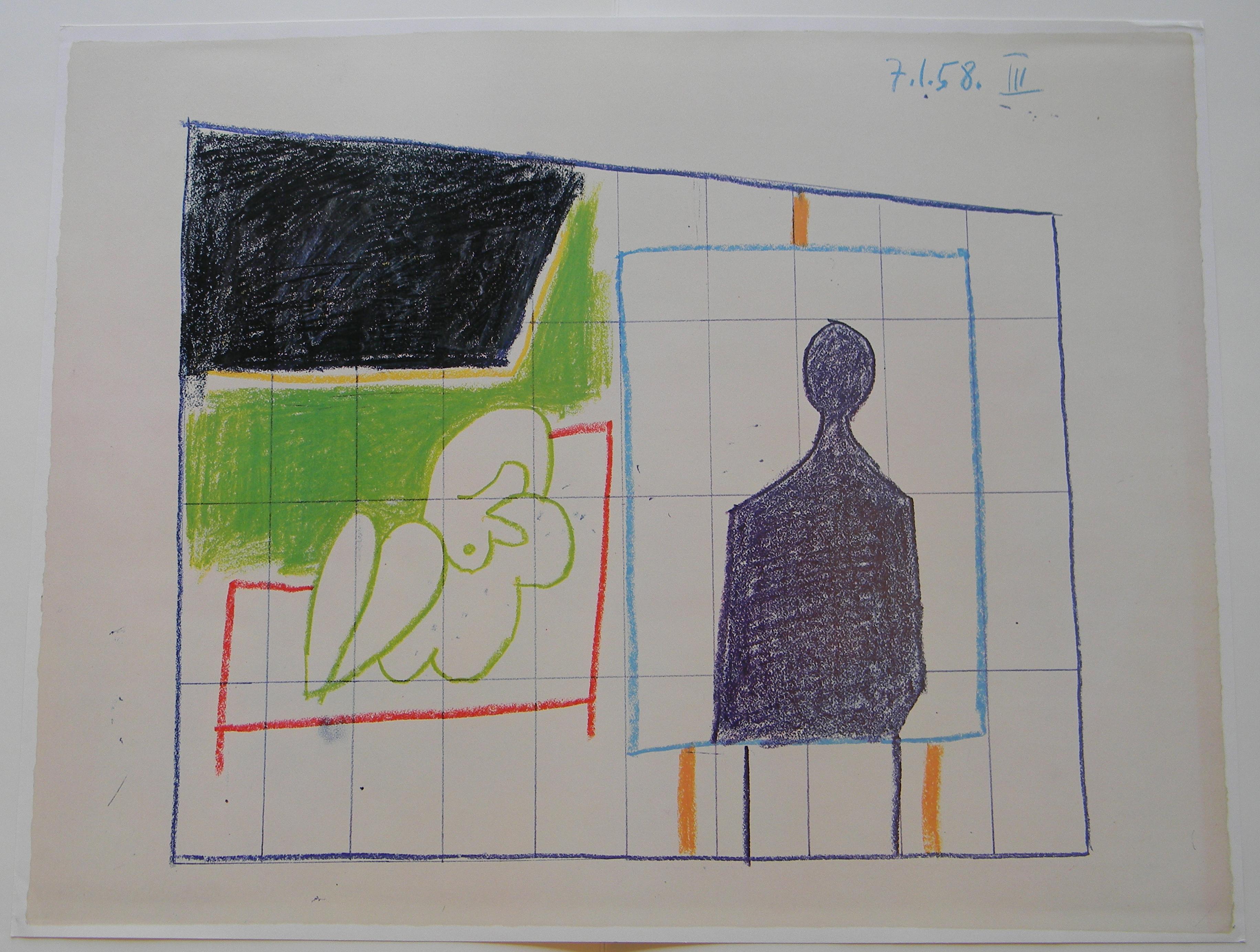 Picasso, Study for UNESCO III La chute d'lcare