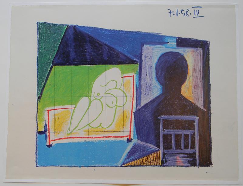 Picasso, Study for UNESCO IV La chute d'lcare