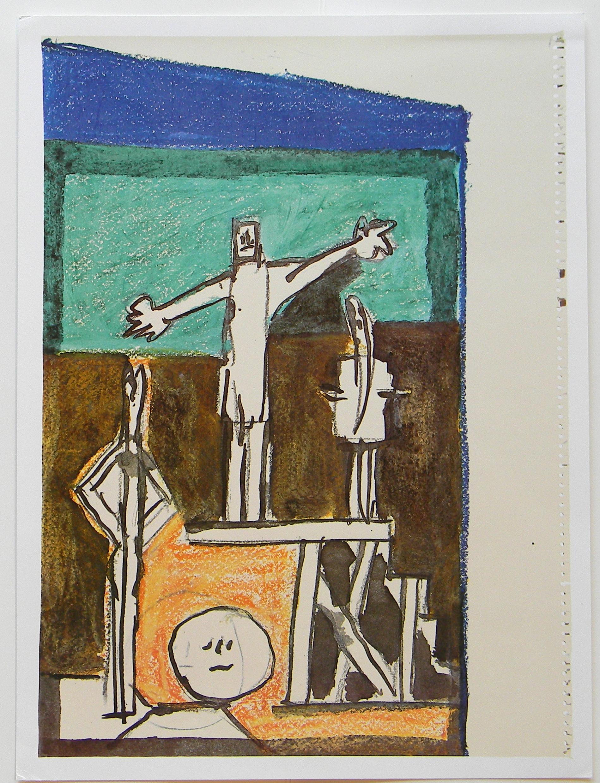 Picasso, Study for UNESCO La chute d'lcare