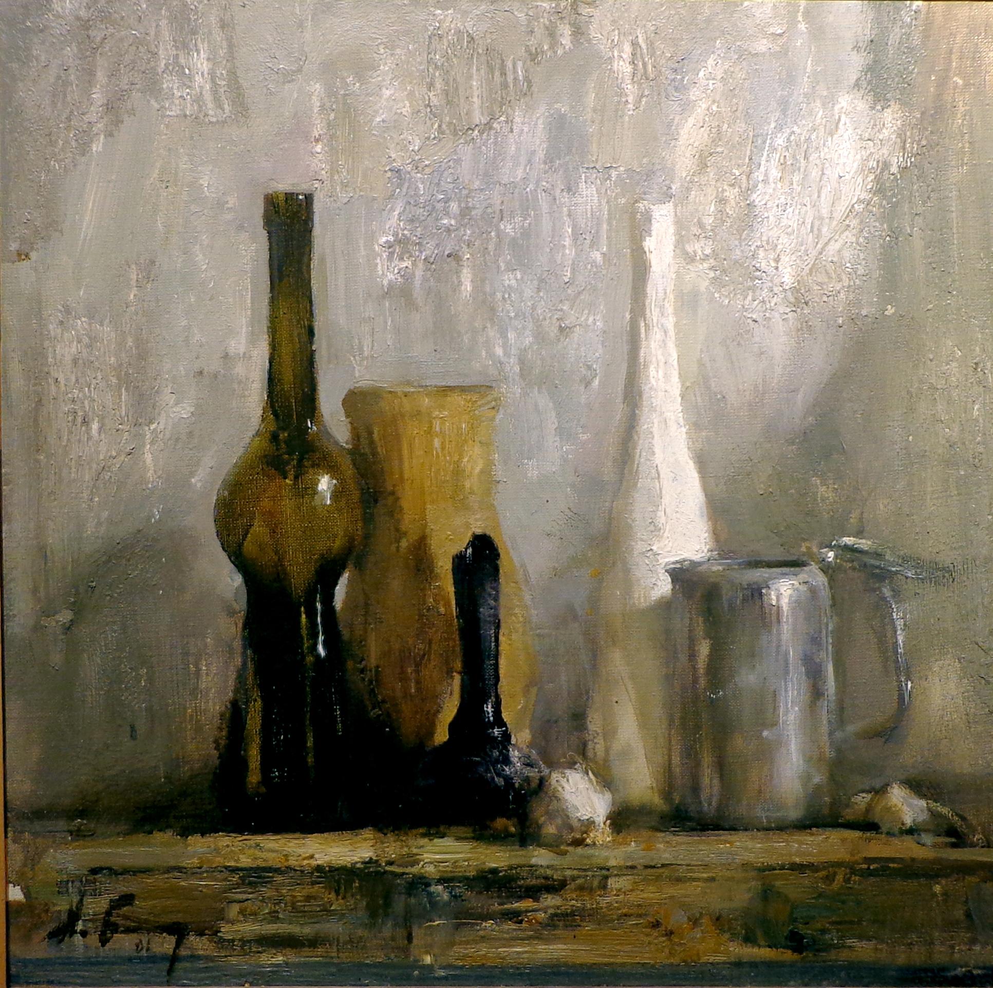 Blokhin, Still Life with Bottle