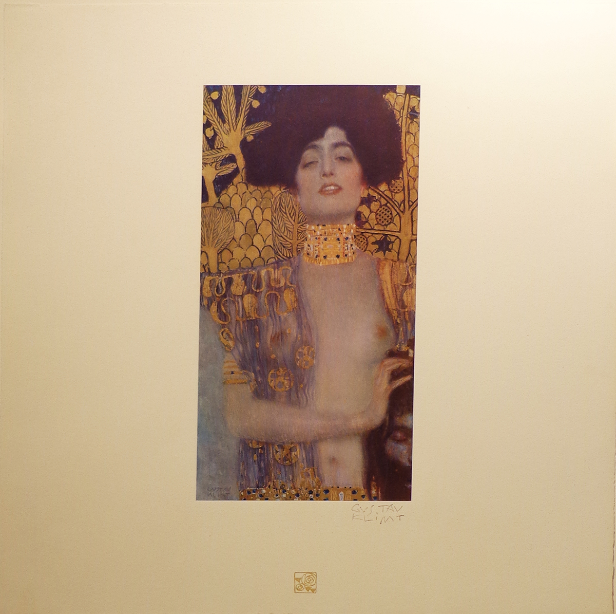 Klimt, Judith I with stamp signature
