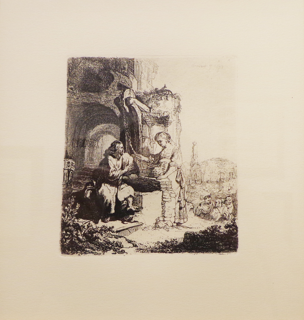 Rembrandt, Christ and the Woman of Samaria