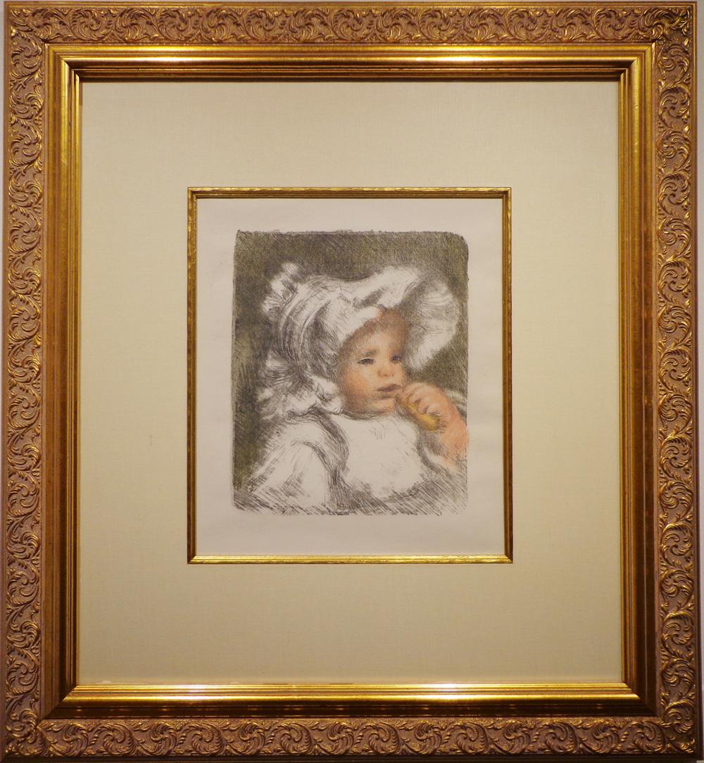 Renoir, L'enfant au biscuit in 4 colors