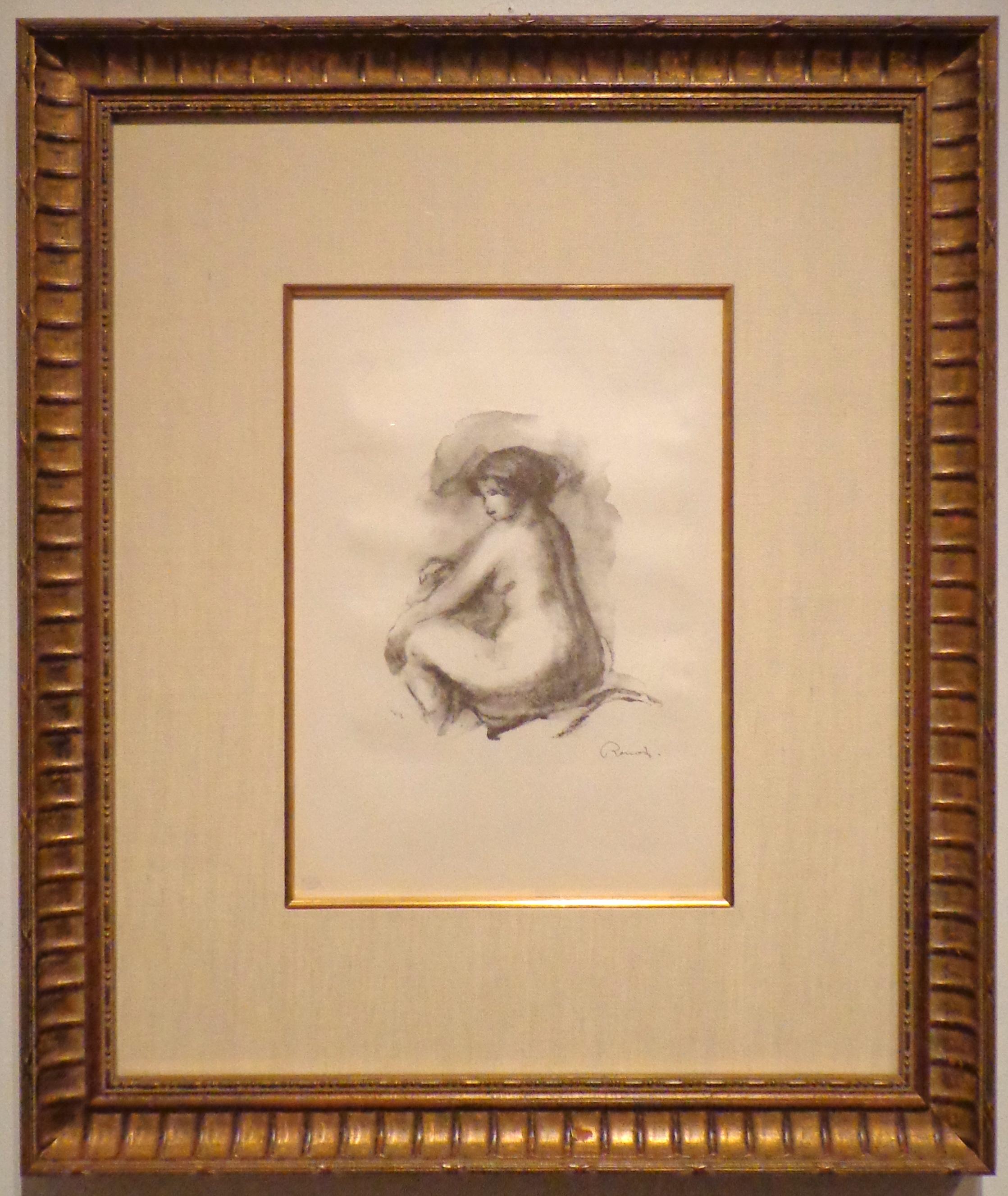 Renoir, Etude de Femme Nue Assise