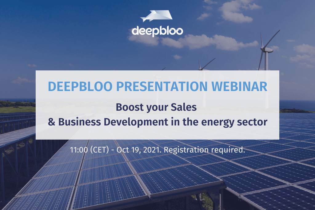 Deepbloo & How to boost Sales in the energy sector (2nd time)