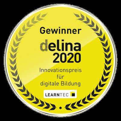 Badge Delina 1. Preis