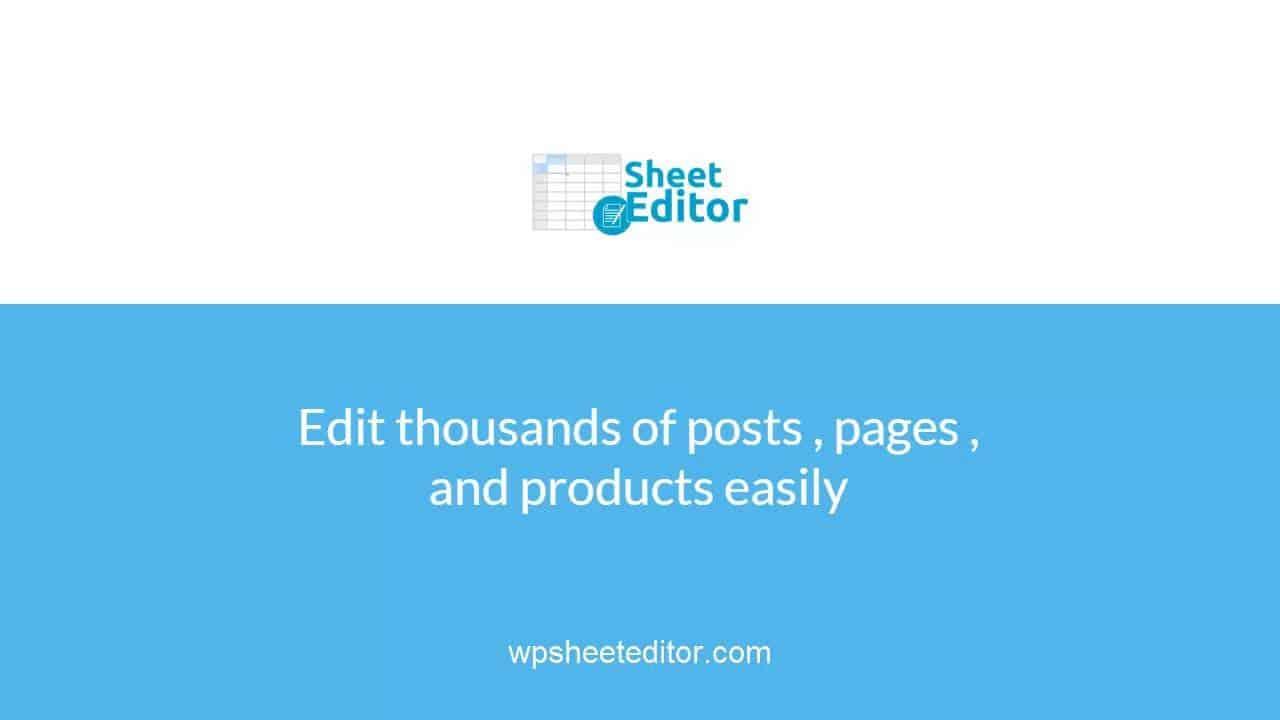 WP Sheet Editor