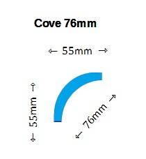 Cove 76mm Cornice Design