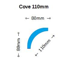 Cove Cornice Profile 120mm